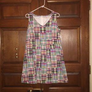 L.L.Bean Sleeveless Madras Dress
